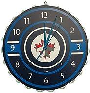 Winnipeg Jets NHL Bottle Cap Wall Clock