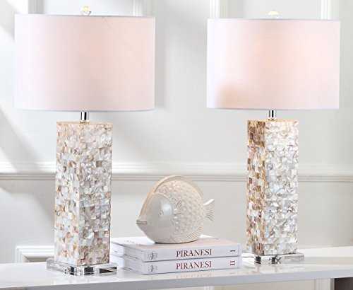 ae863fb46904 Safavieh Lighting Collection Jacoby Cream 28.9-inch Table Lamp (Set of 2) by