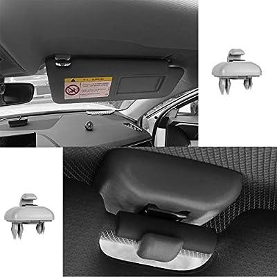 PorporBooya 2-Pack Interior Sun Visor Hook Clip Bracket for A1 A3 A4 A5 Q3 Q5(8E0 857 562) (Grey): Automotive