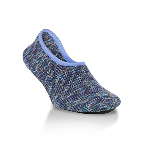 World's Softest Women's Weekend Collection Ragg Knit Ankle Slipper Size Medium (Peacock)
