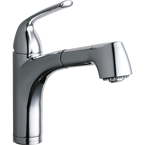 Elkay LKGT1042CR Gourmet Chrome Single Lever Pull-out Spray Bar Faucet ()