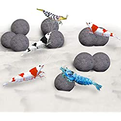 SunGrow Mineral Balls, Calcium-Rich Balls, Health Booster, Successful Molting, Support Growth of Aquarium Plants