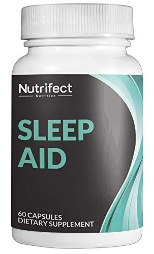 Nutrifect Nutrition Natural Sleep Aid Pills, with Magnesium, 5-HTP, GABA, Melatonin, and L-Theanine for Super Fast Night Time Muscle Recovery, 60 Veggie Caps (Best 5 Htp Brand Uk)