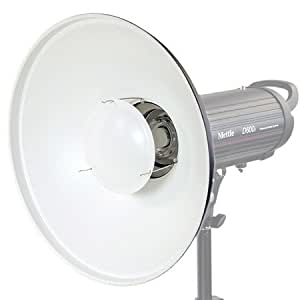Mettle Beauty Dish - Reflector de luz con adaptador (42 cm), color blanco