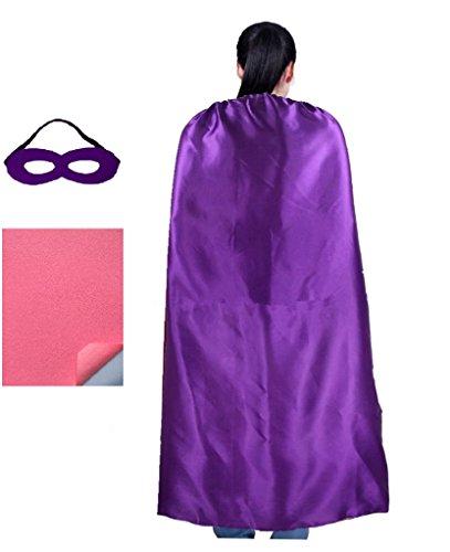 RANAVY Personalized Comic Superhero Capes -Superhero Party Supplies Men & Women (Purple)