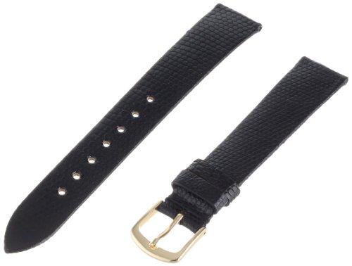Hadley-Roma Men's MSM700RA-160 16-mm Black Genuine Lizard Leather Watch Strap