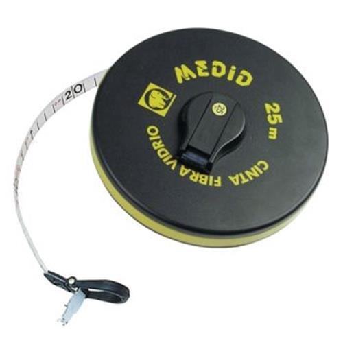Medid MD/121015GF Cinta mé trica de fibra con uñ a plegable, 15 m M29624