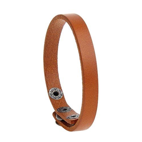 joymiao Leather Bracelet for Men Women Handmade Cuff Bangle Rope Bracelets Casual Jewelry - Teen Girls,Boys ()