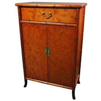 Oriental Furniture Burl Wood Shoe Cabinet. Amazon com  Oriental Furniture Burl Wood Shoe Cabinet  Kitchen