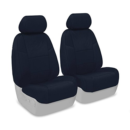 - Coverking Front Custom Fit Seat Cover for Select Mazda CX-7 Models - Poly Cotton (Navy Blue)