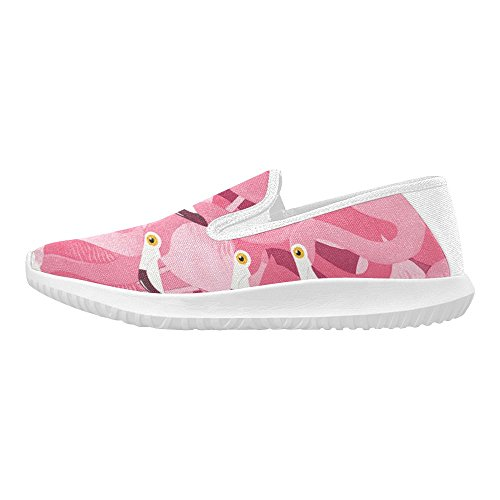 Story Sneakers Canvas On D Shoes Slip Womens Flamingo Fashion adq6wpTwRx