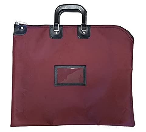 Locking Document HIPAA Bag 16 x 20 with Handles (Burgundy) - Locking Security Bags