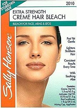 Sally Hansen Creme Bleach Xtra Strength Face & Body (2 Pack) (Best Facial Hair Bleach For Sensitive Skin)