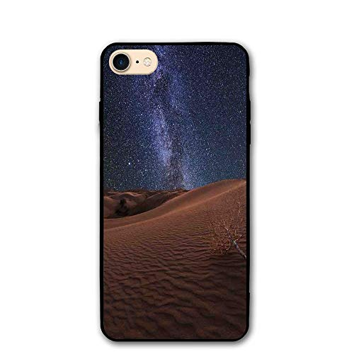 (Haixia iPhone 7/8 Shell 4.7 Inch Space Life On Mars Themed Surreal Surface of Gobi Desert Dune Oasis Lunar Adventure Photo Full Brown Blue )