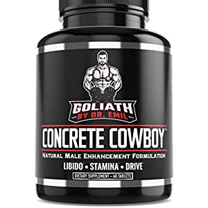 Goliath by Dr. Emil Concrete Cowboy - Male Enhancement Supplement for Libido & Testosterone Boost, Muscle Growth & Endurance (60 Veggie Capsules) natural male libido enhancement - 41nfrQ8QeCL - natural male libido enhancement