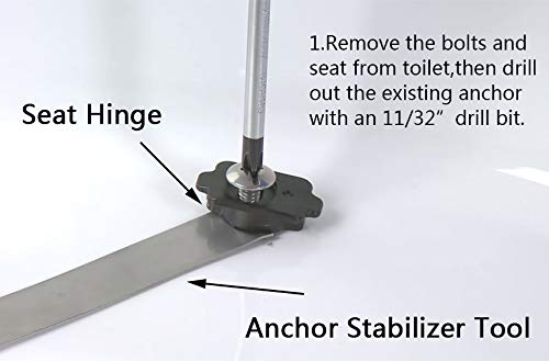 Toilet Seat Replacement Anchor Kit 84999 Fit For Kohler