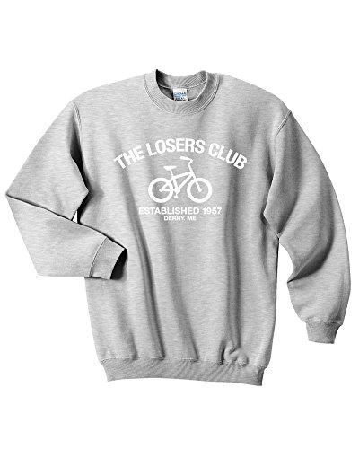 Mars NY The Losers Club Sweatshirt - It Sweatshirt - Stephen Kings It - Halloween Sweatshirt - Pennywise Sweatshirt (Grey, (Halloween Jumper)