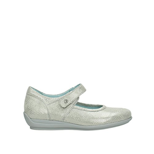 Sandali Silver 20120 Printed White Leather Off Wolky KA BAqvRqg