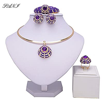Buy New trends Fani nigerian bridal bead jewelry set women