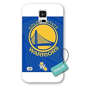 Onelee(TM) - NBA Team Golden_State_Warriors Logo Samsung Galaxy S5 Case & Cover - White Frosted