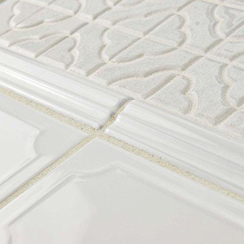SomerTile WCVRGBZM Zuri Brillo Zen Moldura Wall Trim Tile, 1'' x 8'', White by SOMERTILE (Image #4)