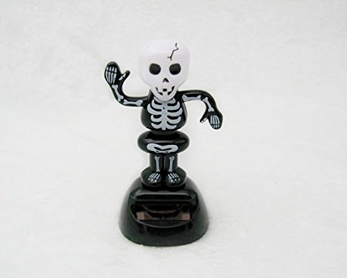 JCare 2Packs Moving Dancing Solar Power Shake Your Bones Skeleton Car Decorations Toy Gift Home for Halloween Party Games Decorating Children (Shake Your Halloween Bones)