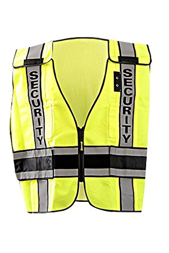 Occunomix Security LUX-DPSSE-DOR Yellow XL Polyester Mesh High-Visibility Vest - 021844-61666 [PRICE is per EACH]