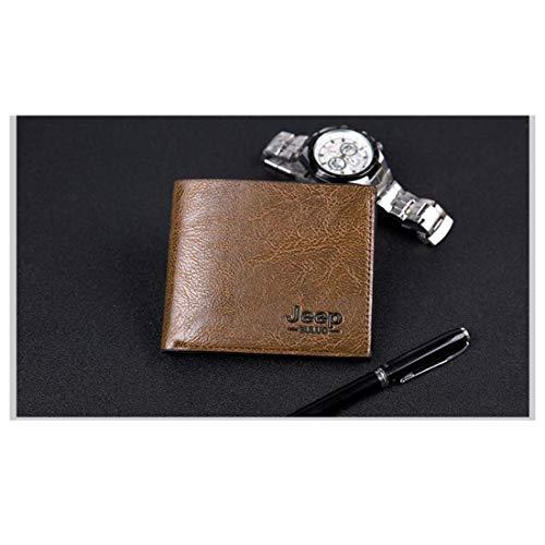 Grande Khaki color Zippé Capacité Vintage Amovible Brown Olprkgdg Portefeuille Pour Reddish Hommes qtnF8f