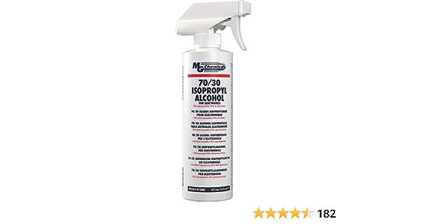 Solución de alcohol isopropílico 70/30 en una botella de spray de 475 ml
