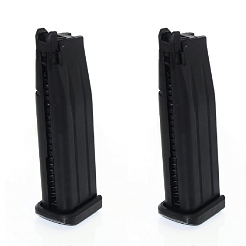 - Airsoft Shooting Gear Army Force 2pcs 31rd Mag For Marui Hi-Capa 5.1 GBB Black