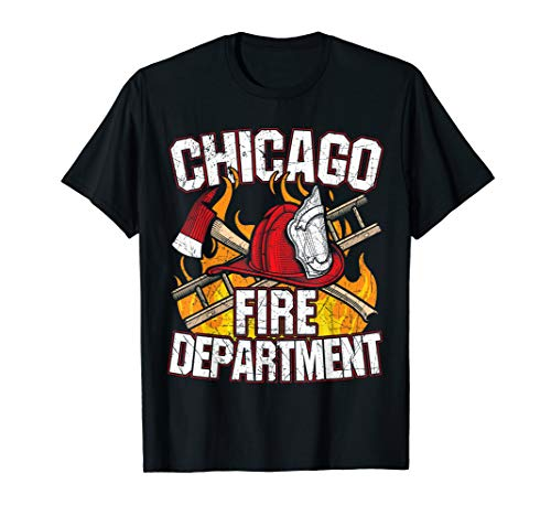 (Chicago Fire Department, CFD Firefighter T-Shirt, Chicago)