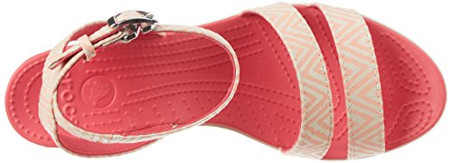 Crocs - - Frauen Leigh Wedge Grafik Melon/Stucco