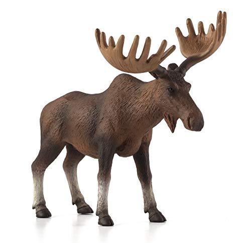 MOJO European Elk / Moose Toy Figure (Wooden Moose)