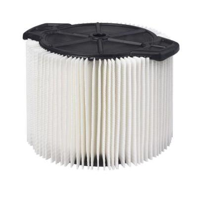RIDGID 1-Layer Pleated Paper Filter for 3-4.5 Gal Vac VF3400