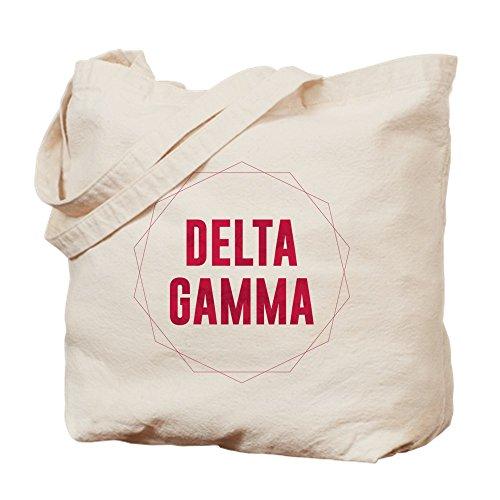 CafePress–Delta gamma círculo–Gamuza de bolsa de lona bolsa, bolsa de la compra