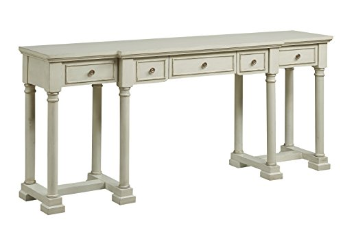 Treasure Trove Accents 17564 Five Drawer Console Desk, Ivory For Sale