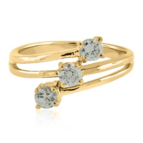 0.50 Ct. Ttw Timeless Treasure Designer Fashion Diamond Ring In 10K Yellow Gold