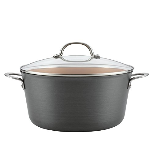 Ayesha Home Collection Hard Anodized Aluminum Stockpot, 10-Quart