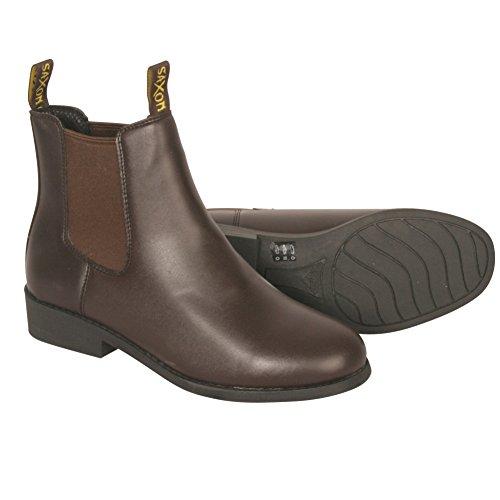 Saxon Equileather Jodhpur Boot (sizes UK5 - UK11) Brown 2zgePL6zcM