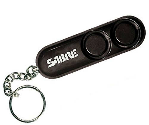 SABRE Personal Self-Defense Safety Alarm on Key Ring with LOUD Dual Alarm Siren Heard up to 300 ft/90 meters Away....