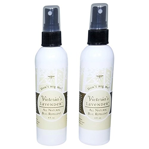 Victorias Lavender Organic Insect Repellent Bug Spray -DEET Free All Natural Mosquito Repellent with Highly Effective Essential Oils & Aloe Vera (4 oz -2 Pack)