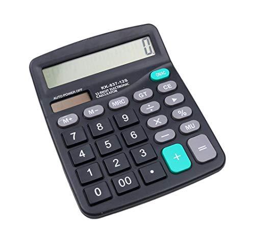 Hycy Calculadora Calculadora De Pantalla Grande De 12 Dígitos Computadora De Moda Contabilidad Financiera