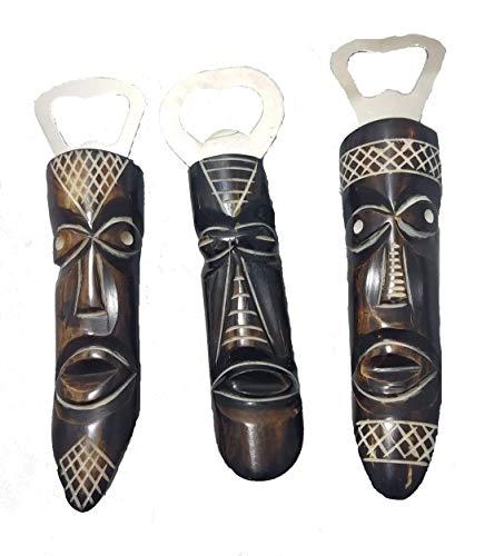 Maasai Masai African Mask Bone Beer Soda Soft Drink Can Bottle Opener