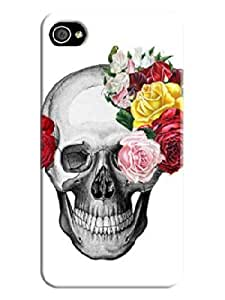 LarryToliver Beautiful Skull Background image logo perfect Protector Cases for iphone 4/4s Cases #1