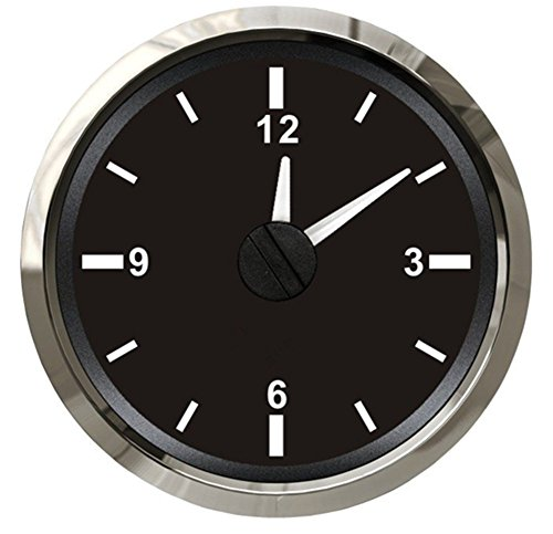 Kadir Koc 1pc Tuning Clock Gauges 52 Clock Meters Hour Gauges with Backlight Black by Kadir Koc (Image #6)