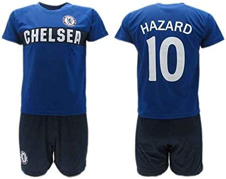 Conjunto Fútbol Eden Hazard 10 Chelsea Blues Azul Temporada 2018-2019  Replica Oficial con Licencia - Caja de Regalo Camisa + Pantalón Corto 7e6a80088abc0