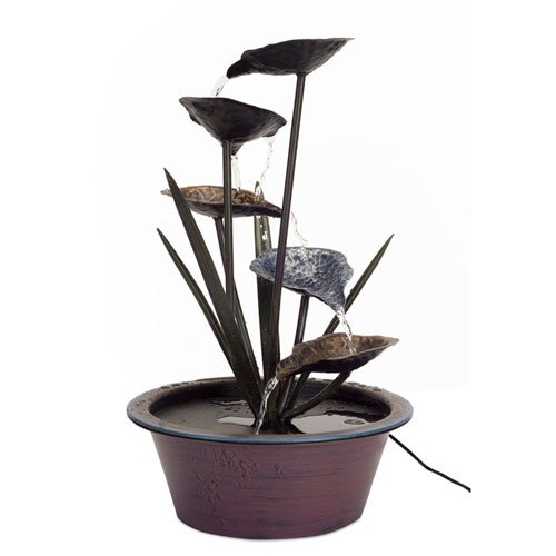 Melrose International 22″H Lotus Leaf Fountain Review