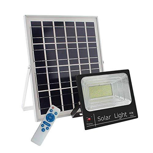 LEDBOX Foco LED Solar para Exterior 40w con Mando a Distancia para ...
