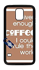 Cell phones cases for samsung s5 I9600,Hard Case for samsung s5 I9600(coffee love).