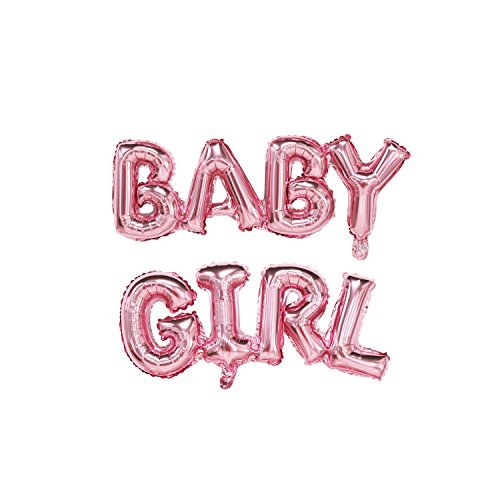 Baby Girl Balloons Pink | Baby Shower Decorations for girl | Baby girl Foil balloon Letters | Baby Shower Mylar Balloons girl, (Baby Shower Table Decoration Ideas)